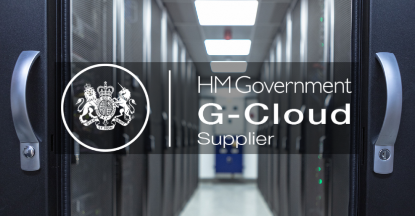 data centre rack with G-Cloud logo added